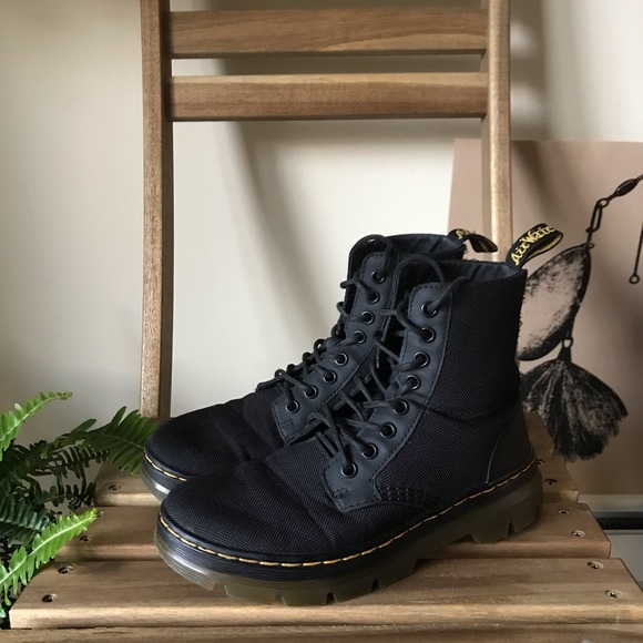 Dr. Martens Shoes - dr. martens black combs nylon boot mens 5 womens 8a041662b